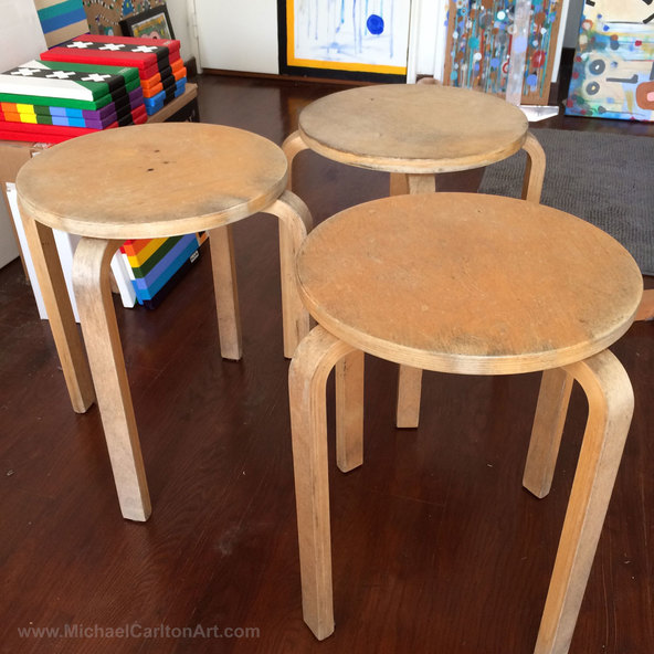 New Abandoned Ikea Stools about to be Upcycled
